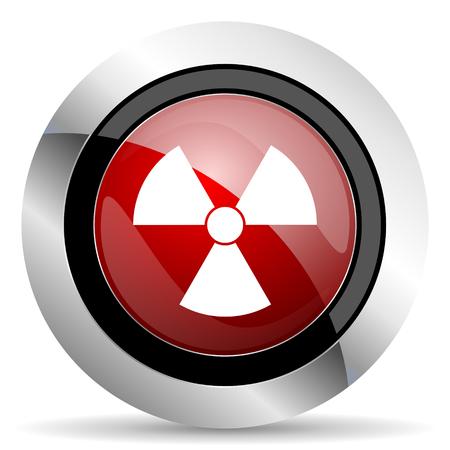 radiacion: icono rojo brillante web de la radiaci�n