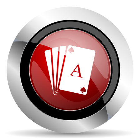 picto: card red glossy web icon