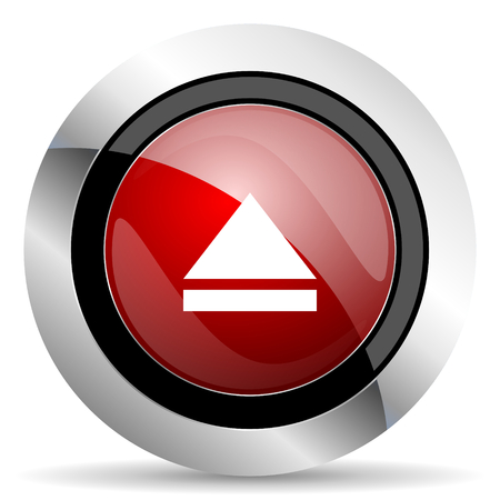 icono web: expulse icono rojo brillante Web