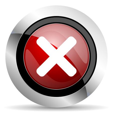 icono web: cancelar icono rojo brillante Web