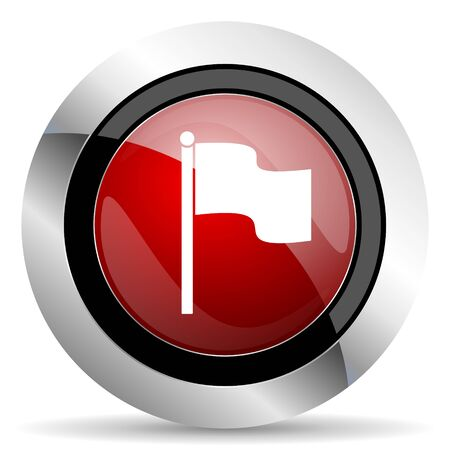 flag red glossy web icon photo