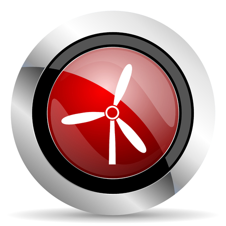 windmill red glossy web icon photo