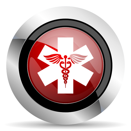 emergency red glossy web icon photo