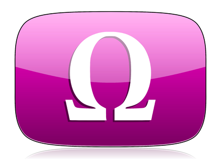 pushbuttons: omega violet icon