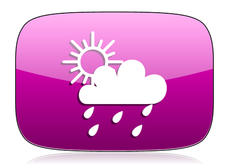 pushbuttons: rain violet icon waether forecast sign