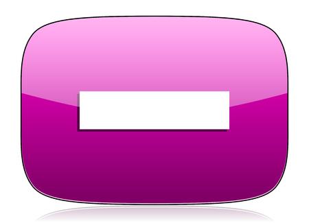violet icon: minus violet icon