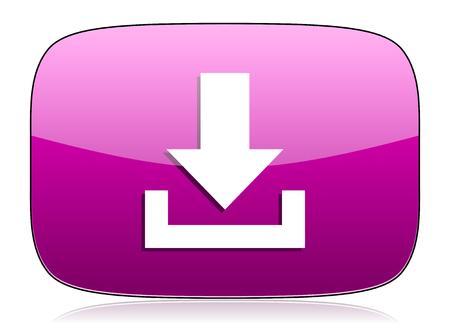 violet icon: download violet icon Stock Photo