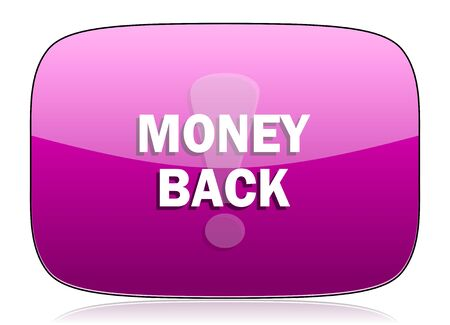 money back: money back violet icon