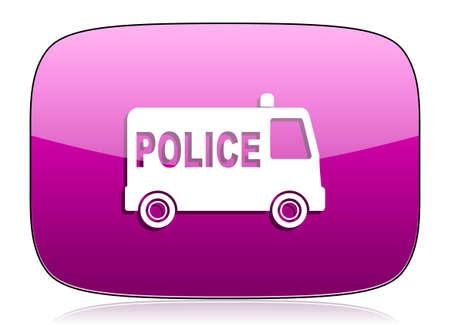 patrolman: police violet icon