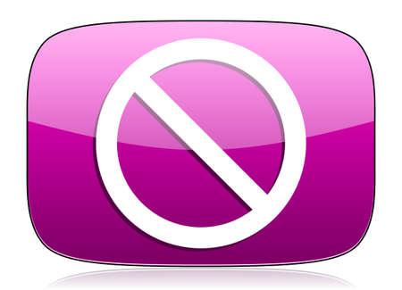 access denied: access denied violet icon