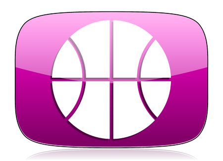 violet icon: ball violet icon basketball sign