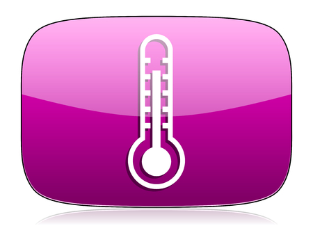 violet icon: thermometer violet icon temperature sign