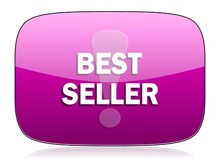 the seller: best seller violet icon Stock Photo
