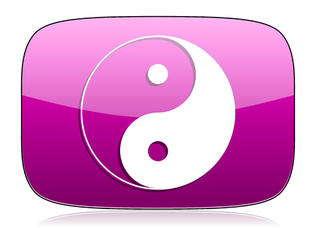 violet icon: ying yang violet icon