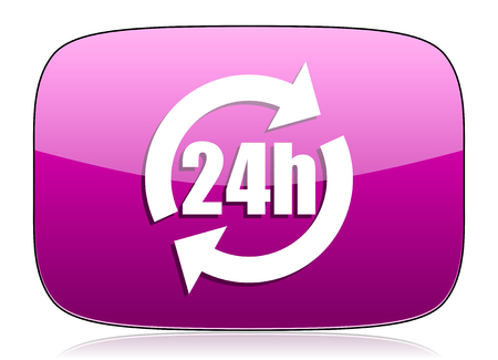 24h: 24h violet icon