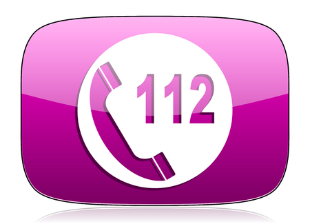emergency call: emergency call violet icon 112 call sign