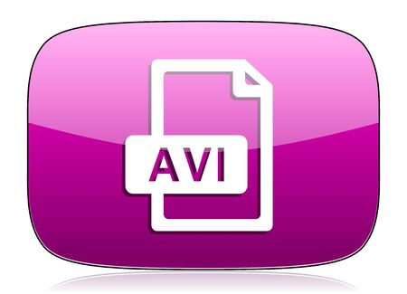 avi: avi file violet icon