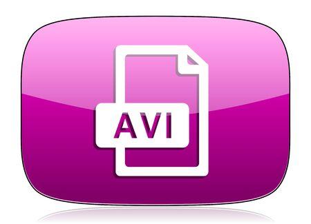 avi: avi file violet icon