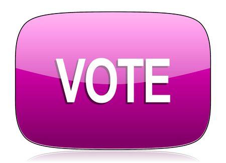 violet icon: vote violet icon Stock Photo