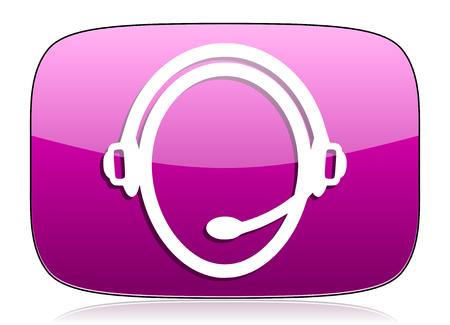 violet icon: customer service violet icon
