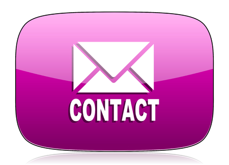 button icons: email violet icon contact sign
