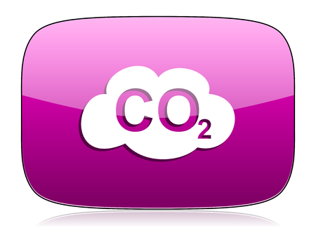 dioxido de carbono: dióxido de violeta signo icono co2 carbono Foto de archivo