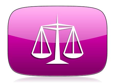 violet icon: justice violet icon law sign