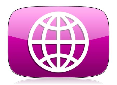 parallel world: earth violet icon Stock Photo