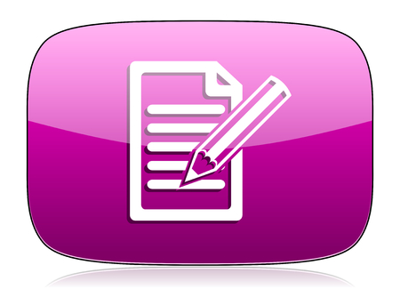 subscribe: subscribe violet icon write sign