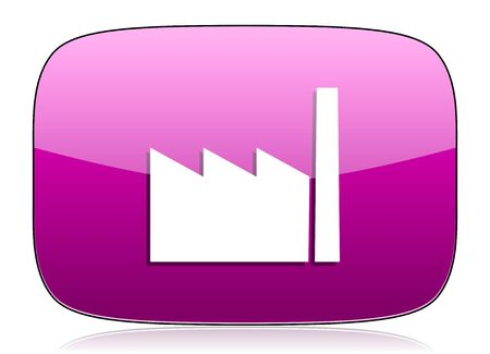 industrialist: factory violet icon industry sign manufacture symbol Stock Photo