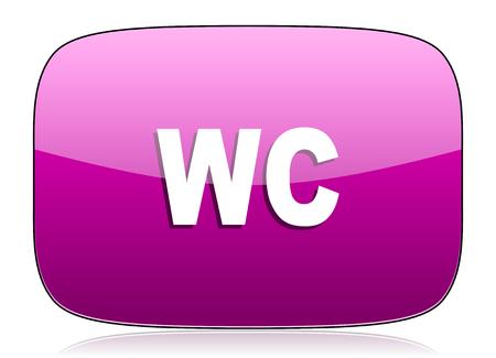 wc: WC violetten Symbol wc Zeichen