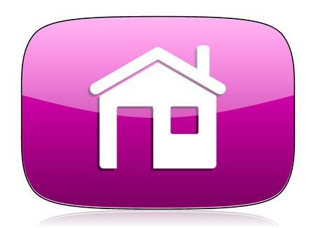house violet icon home sign Stock Photo