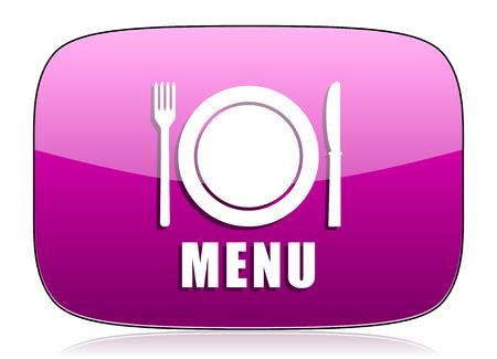 violet icon: menu violet icon restaurant sign