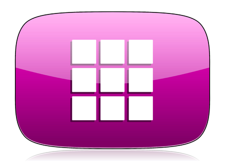 thumbnails: thumbnails grid violet icon gallery sign