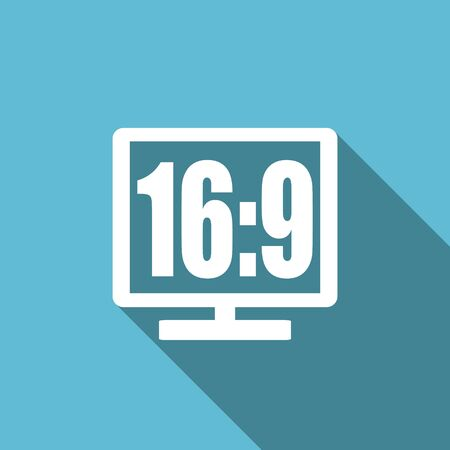 display: 16 9 display flat icon
