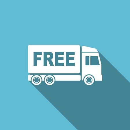 délivrance: livraison gratuite icône plat signe de transport Banque d'images