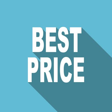 at best: best price flat icon