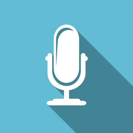 podcast: microphone flat icon podcast sign