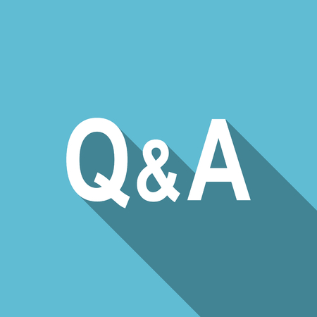 question and answer: question answer flat icon Stock Photo