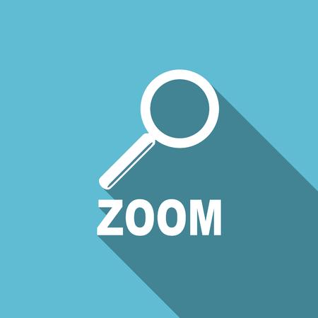 zoom: zoom flat icon