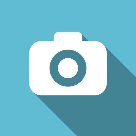 picto: photo camera flat icon photography sign Stock Photo