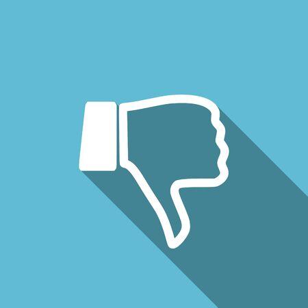 pulgar abajo: dislike flat icon thumb down sign