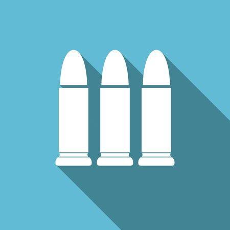 ammunition: ammunition flat icon weapoon sign