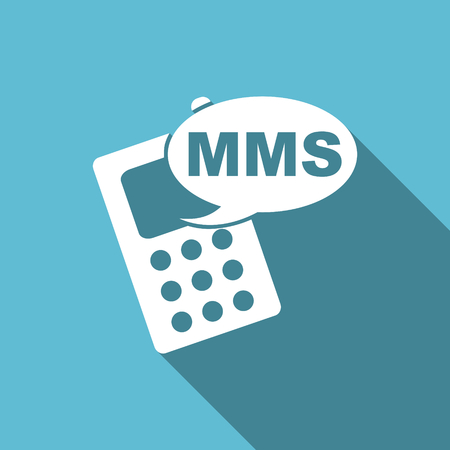 mms icon: mms flat icon phone sign Stock Photo