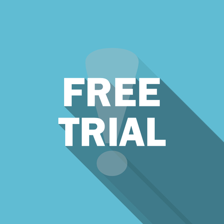trial: free trial flat icon Stock Photo