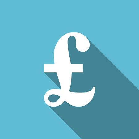 pound: pound flat icon
