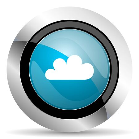 pushbuttons: cloud icon waether forecast sign Stock Photo
