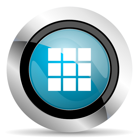 thumbnails: thumbnails grid icon gallery sign Stock Photo