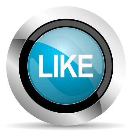 approval button: like icon Stock Photo