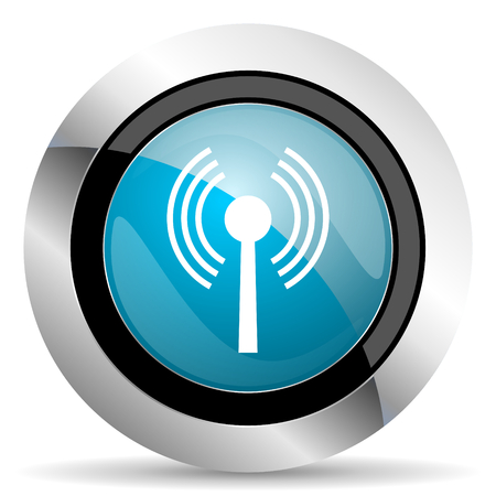 wireless hot spot: wifi icon wireless network sign Stock Photo